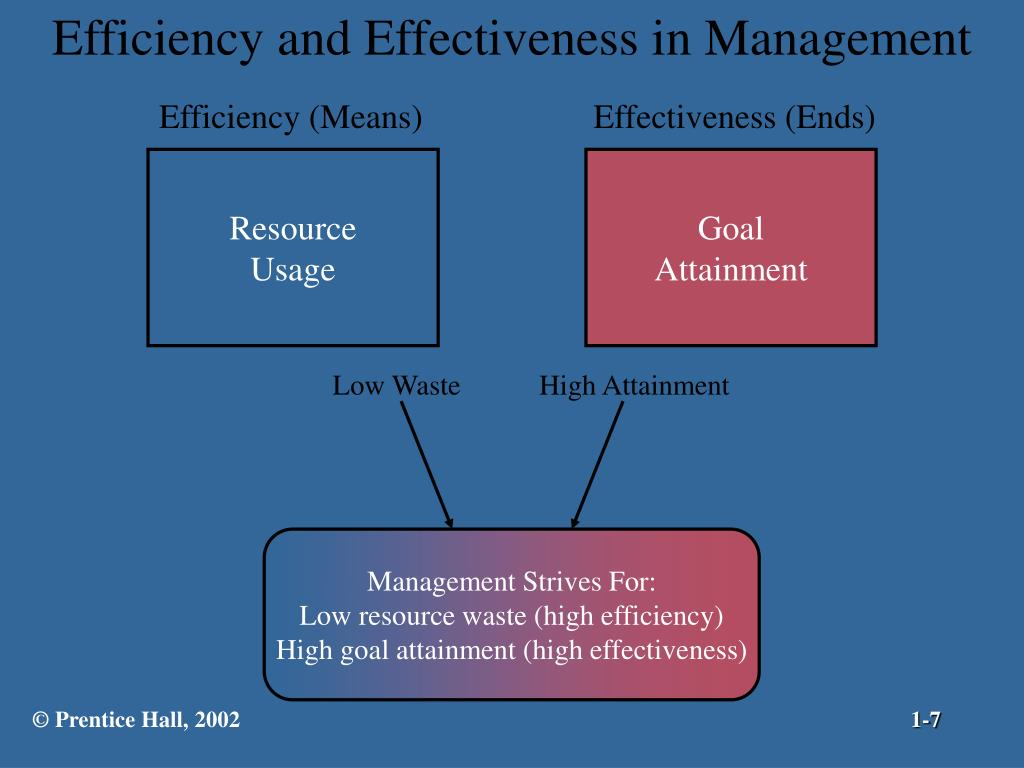 Efficiency and Effectiveness in Management