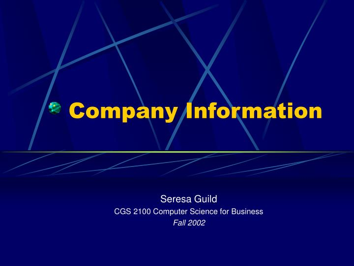 company information n.