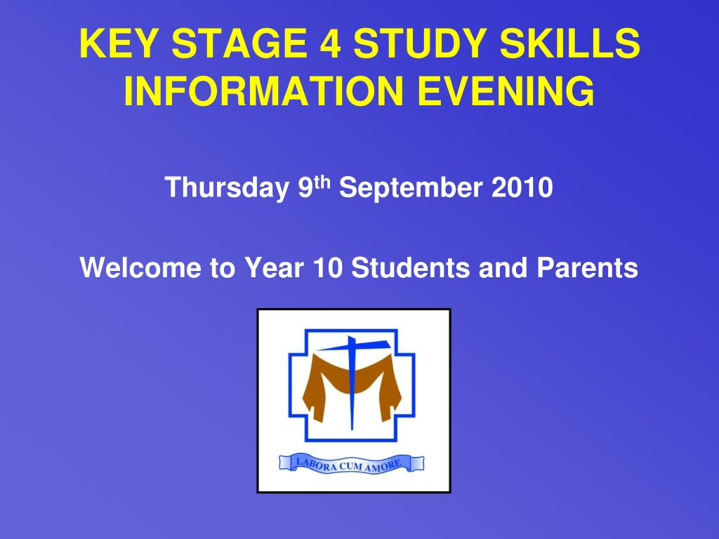 key stage 4 study skills information evening l.