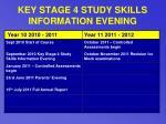 key stage 4 study skills information evening27