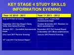 key stage 4 study skills information evening29