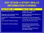 key stage 4 study skills information evening31