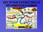 key stage 4 study skills information evening9