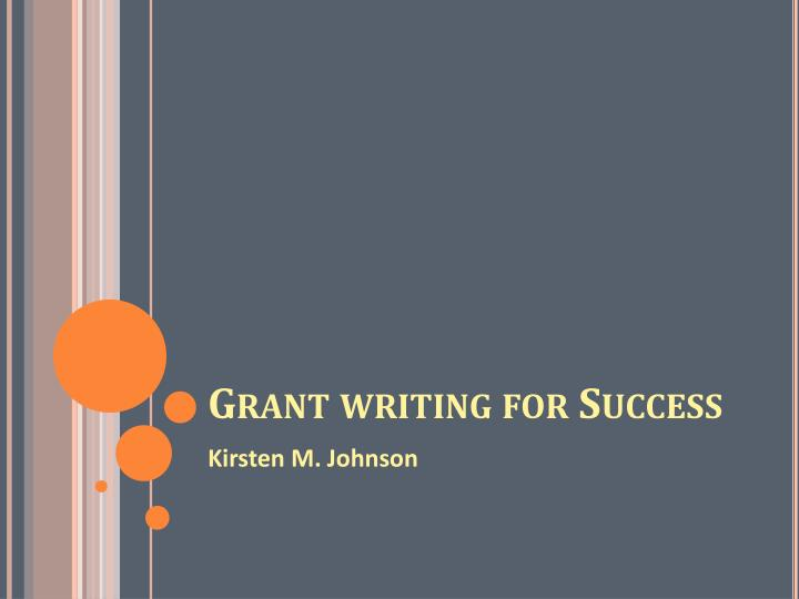 grant writing for success n.