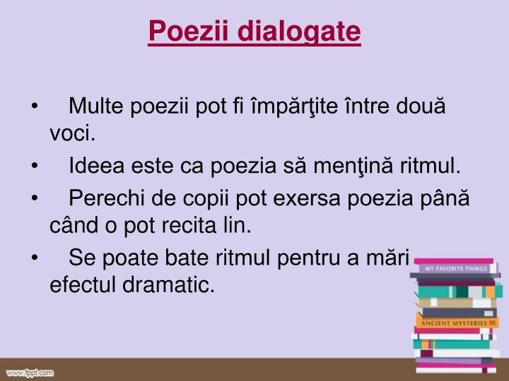 Poezii dialogate
