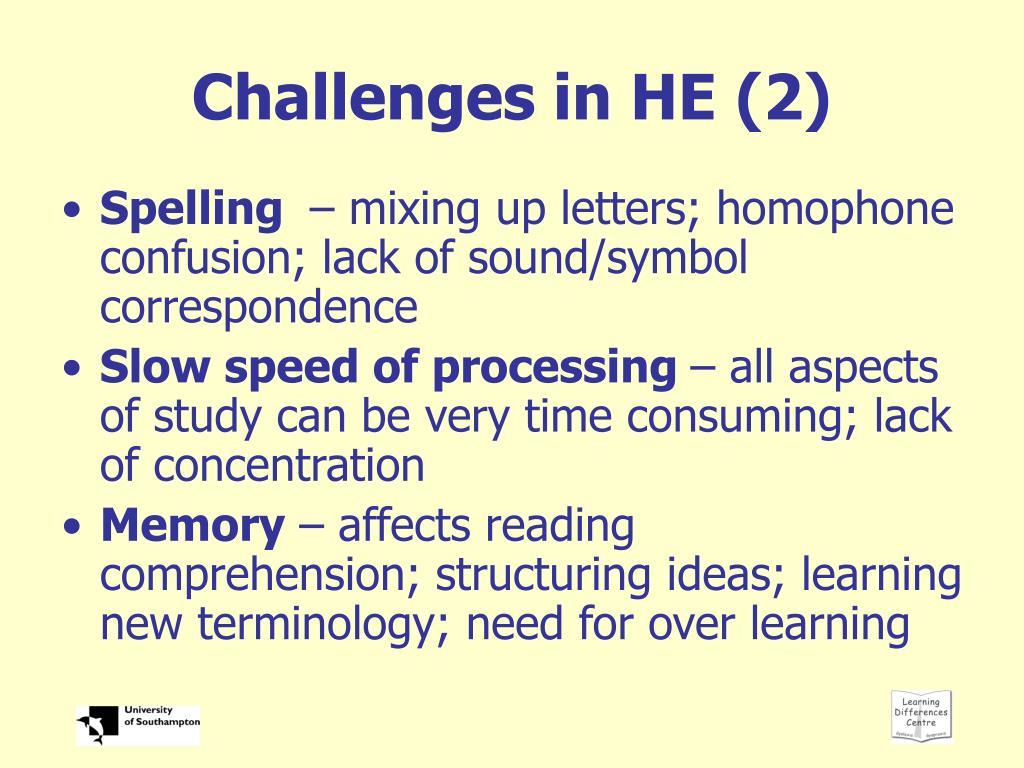 Challenges in HE (2)