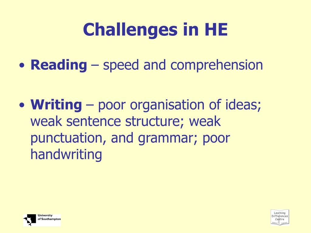 Challenges in HE