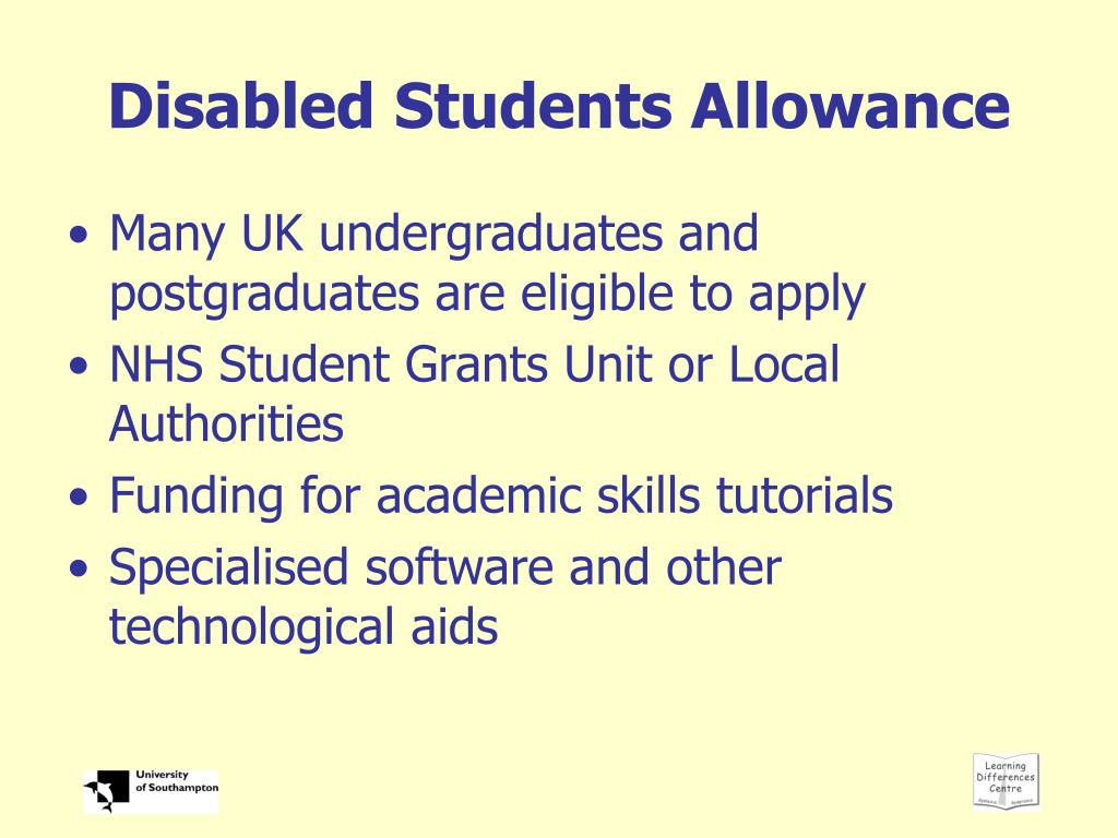 Disabled Students Allowance