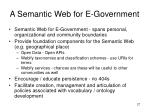 a semantic web for e government
