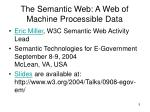 the semantic web a web of machine processible data5