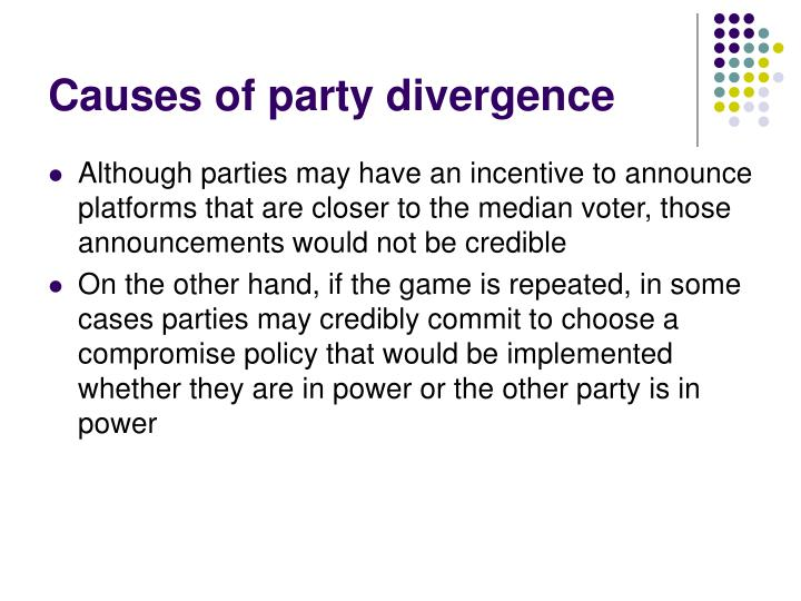 Causes of party divergence