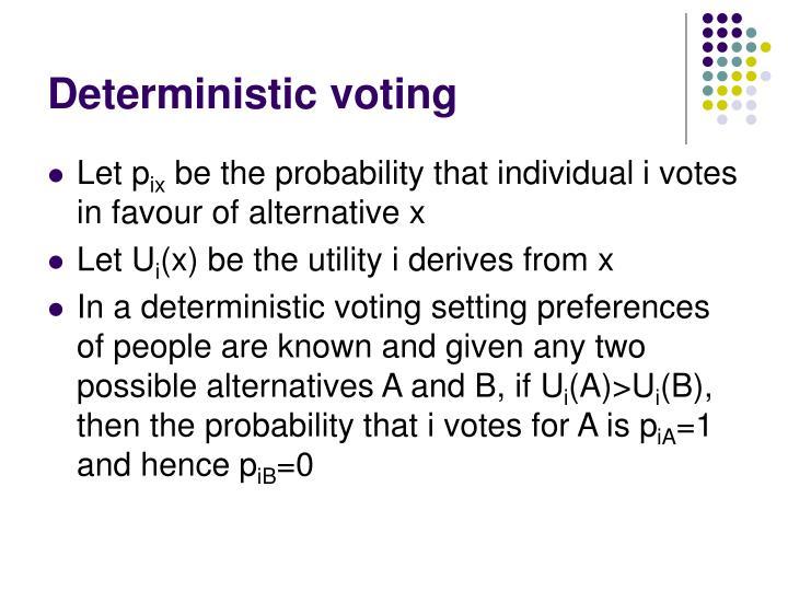 Deterministic voting