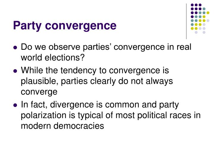 Party convergence