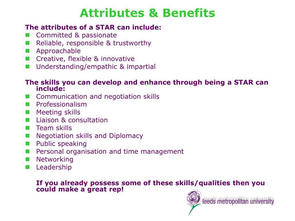 Attributes & Benefits