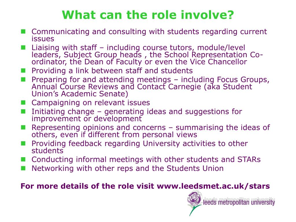 What can the role involve?