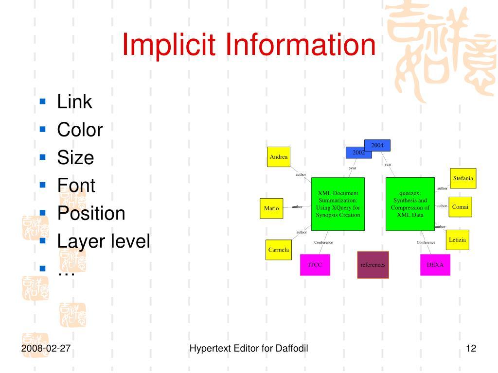 Implicit Information
