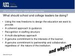 what should school and college leaders be doing