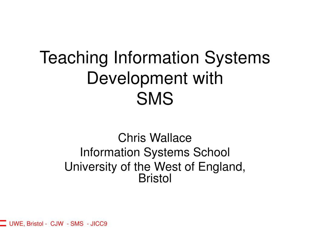 teaching information systems development with sms l.