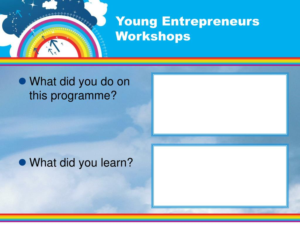 Young Entrepreneurs Workshops