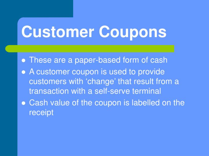 Customer Coupons