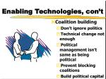 enabling technologies con t