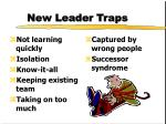new leader traps