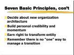seven basic principles con t