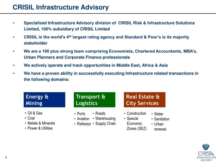 Crisil infrastructure advisory