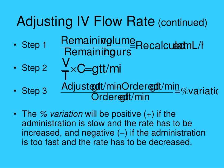 Adjusting IV Flow Rate