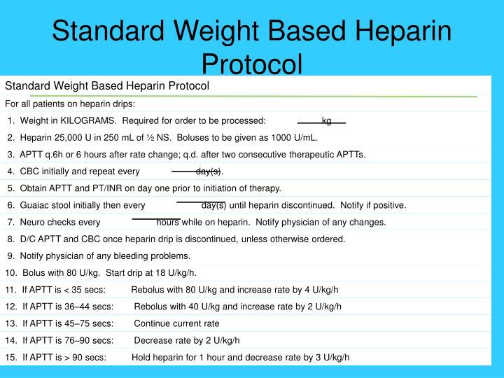 Standard Weight Based Heparin Protocol
