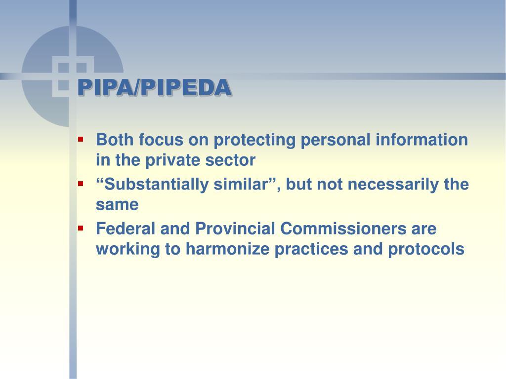 PIPA/PIPEDA