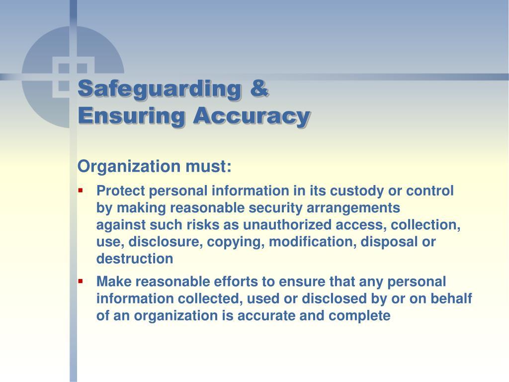 Safeguarding &
