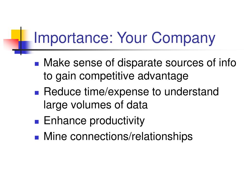 Importance: Your Company