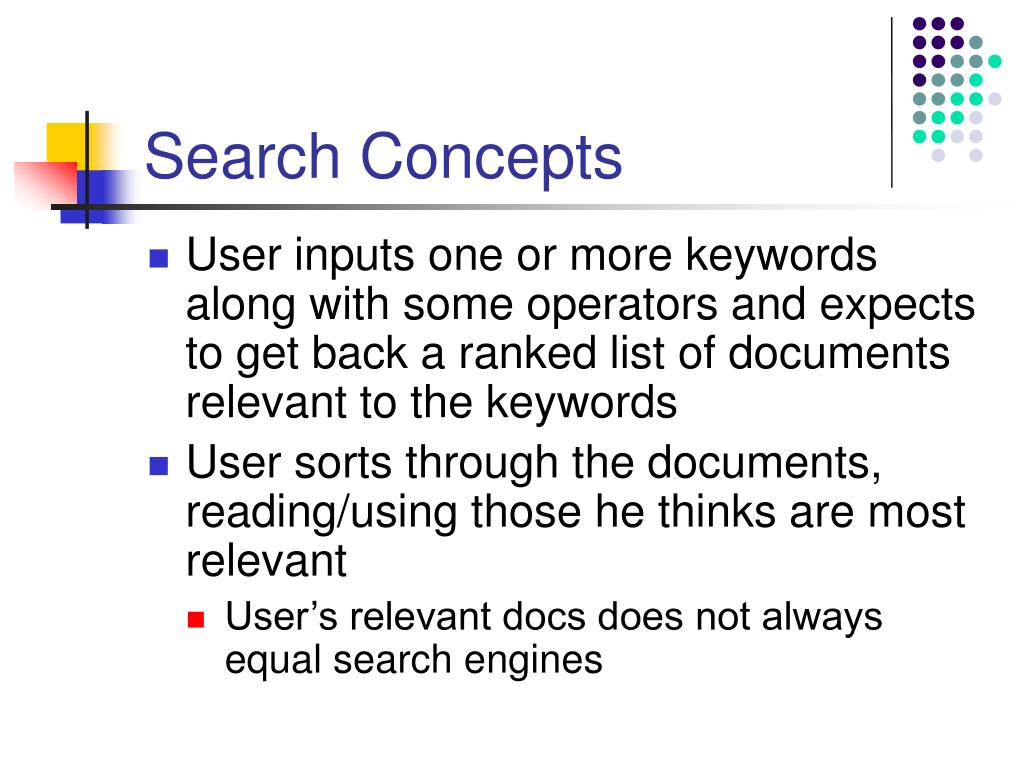 Search Concepts