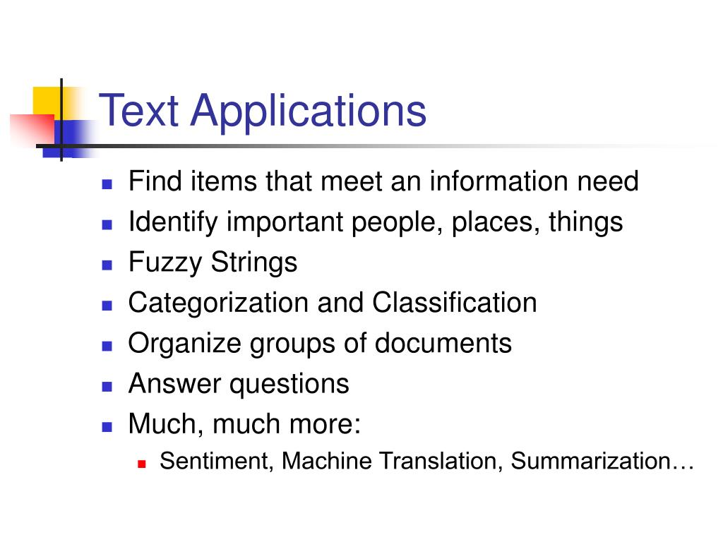 Text Applications