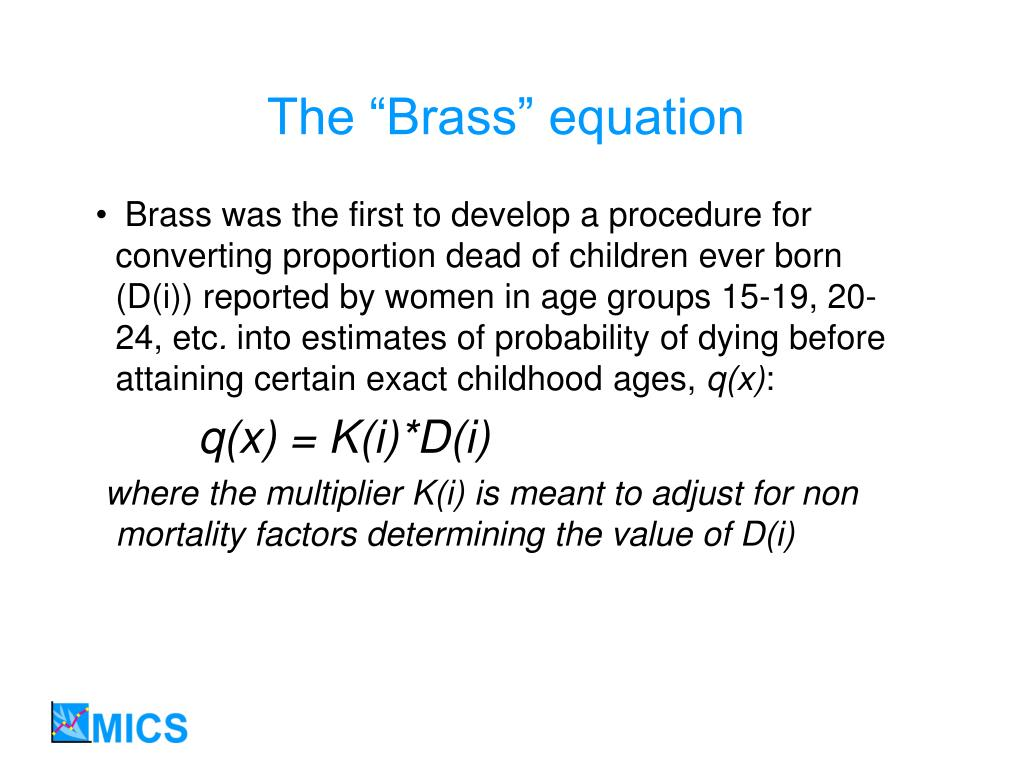 """The """"Brass"""" equation"""