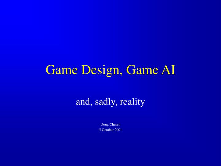 Game design game ai