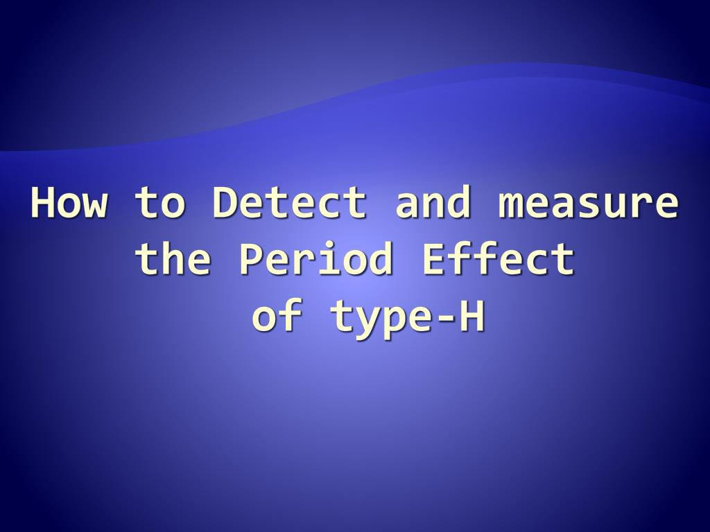 How to Detect and measure