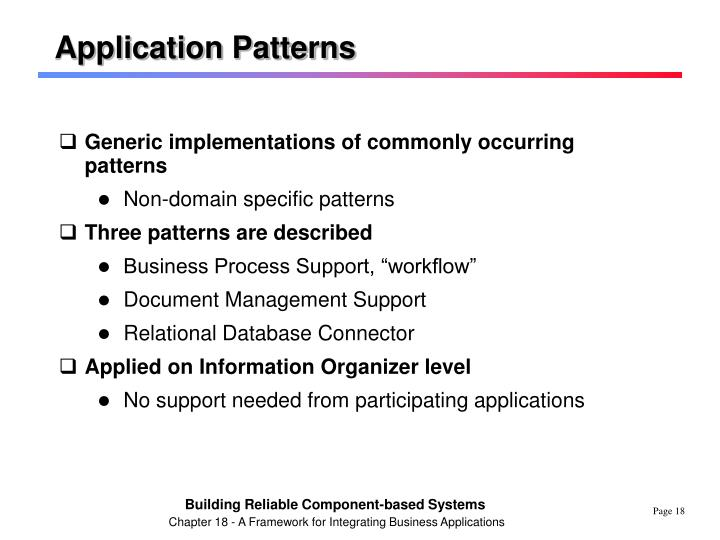 Application Patterns