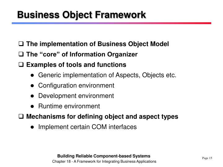 Business Object Framework