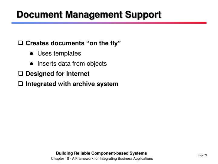 Document Management Support