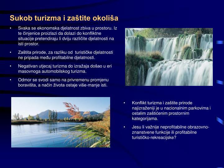 Sukob turizma i zaštite okoliša
