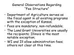 general observations regarding fee structure