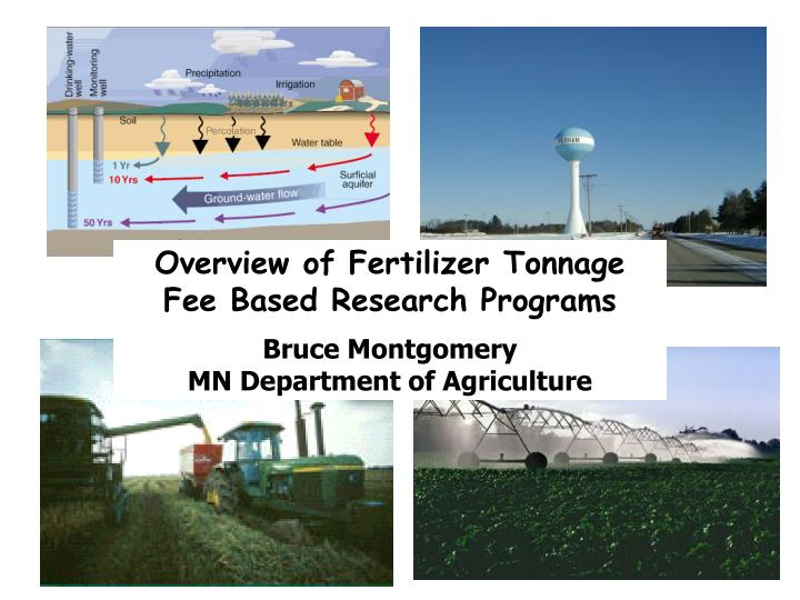 Overview of Fertilizer Tonnage Fee Based Research Programs