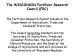 the wisconsin fertilizer research council frc