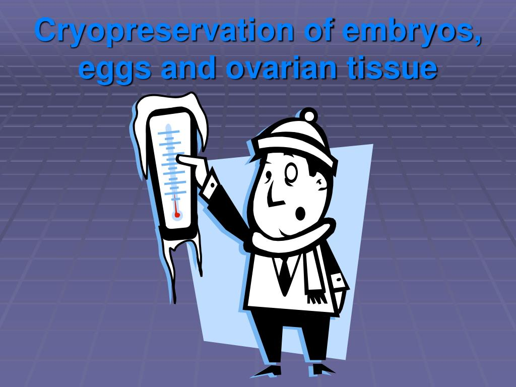 Cryopreservation of embryos, eggs and ovarian tissue