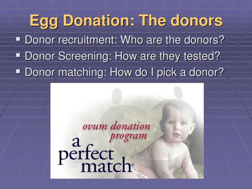 Egg Donation: The donors