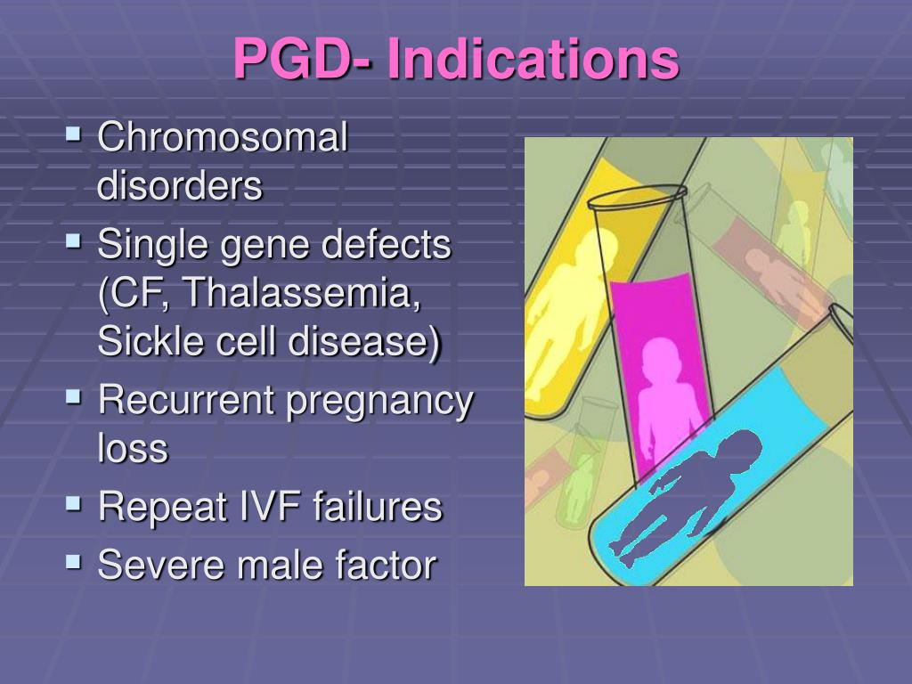 PGD- Indications