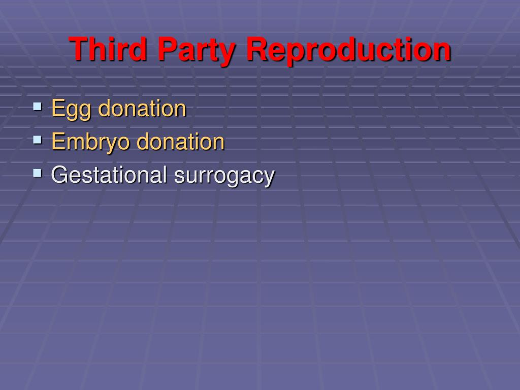 Third Party Reproduction