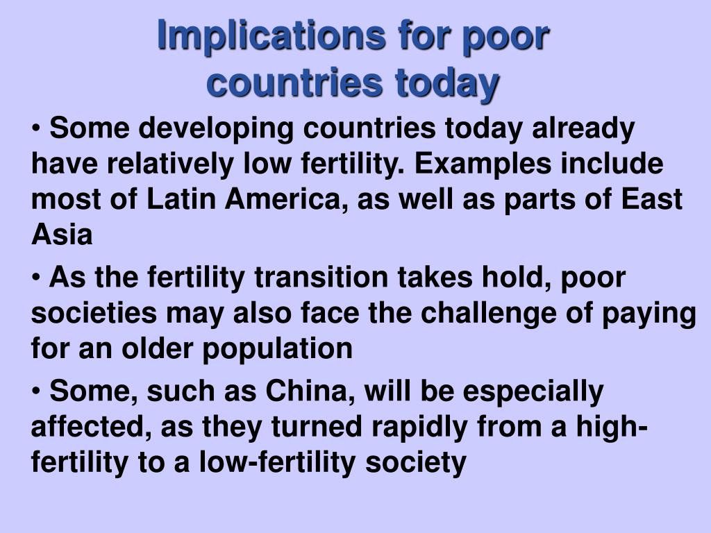 Implications for poor                                countries today